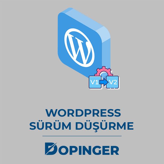 Wordpress sürüm düşürme